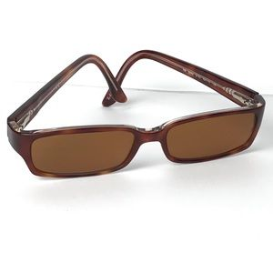 Ray-Ban Brown Rectangular Rx Sunglasses